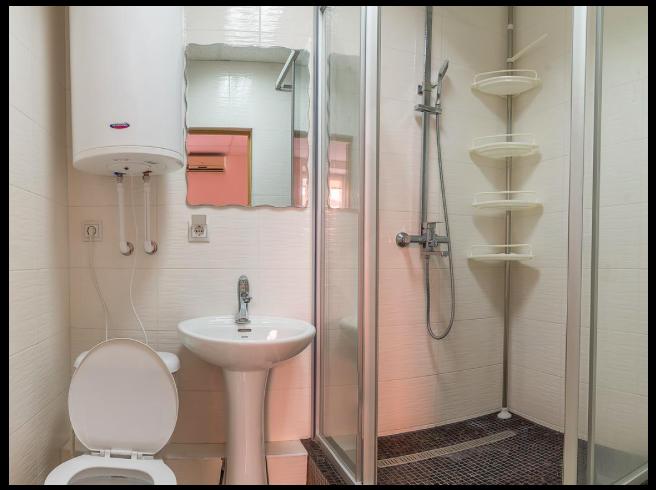 ホステルズルースウラジオストクのシャワールーム