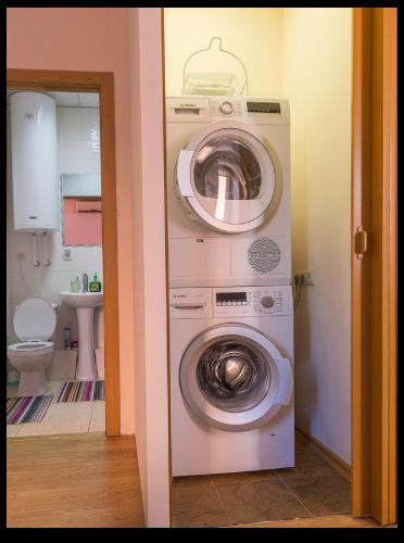 ホステルズルースウラジオストクの洗濯・乾燥スペース