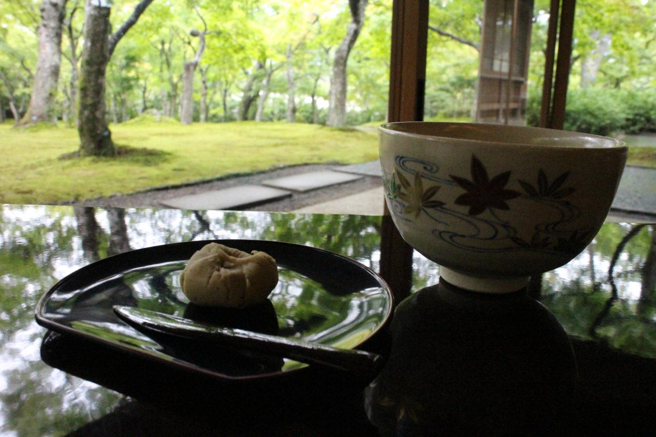 箱根美術館のお茶と和菓子セット