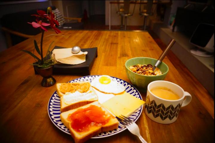 ブルーボートホステル朝食