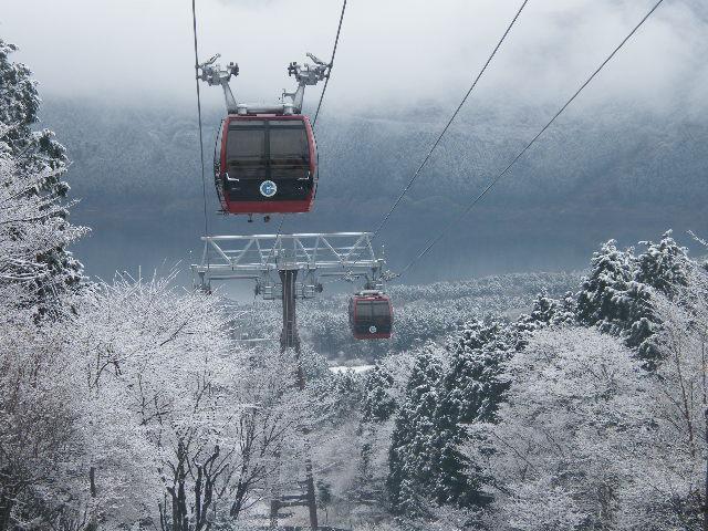 箱根ロープウェイ冬