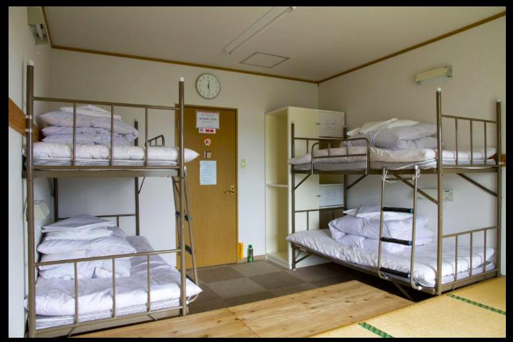 屋久島ユースホステルのドミトリー
