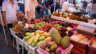 コタキナバルのローカルマーケット