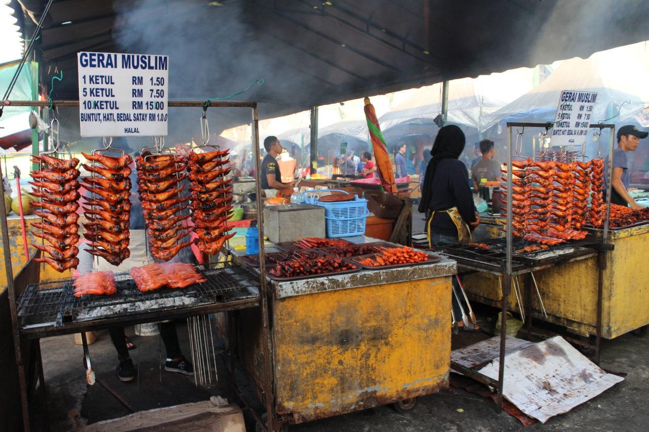 コタキナバルのナイトマーケット