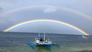モアルボアルで見た虹