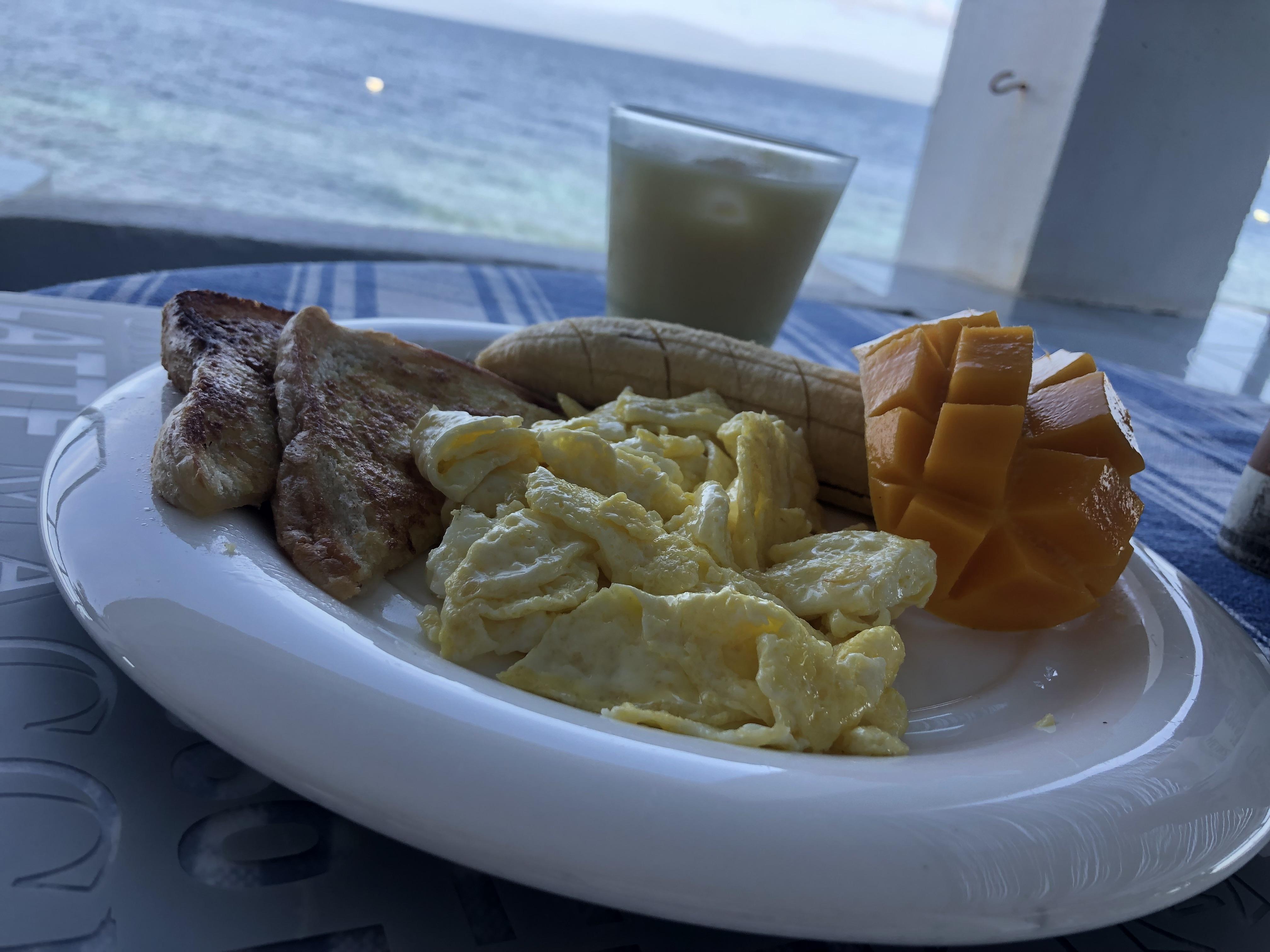 シャカゲストハウスの朝食