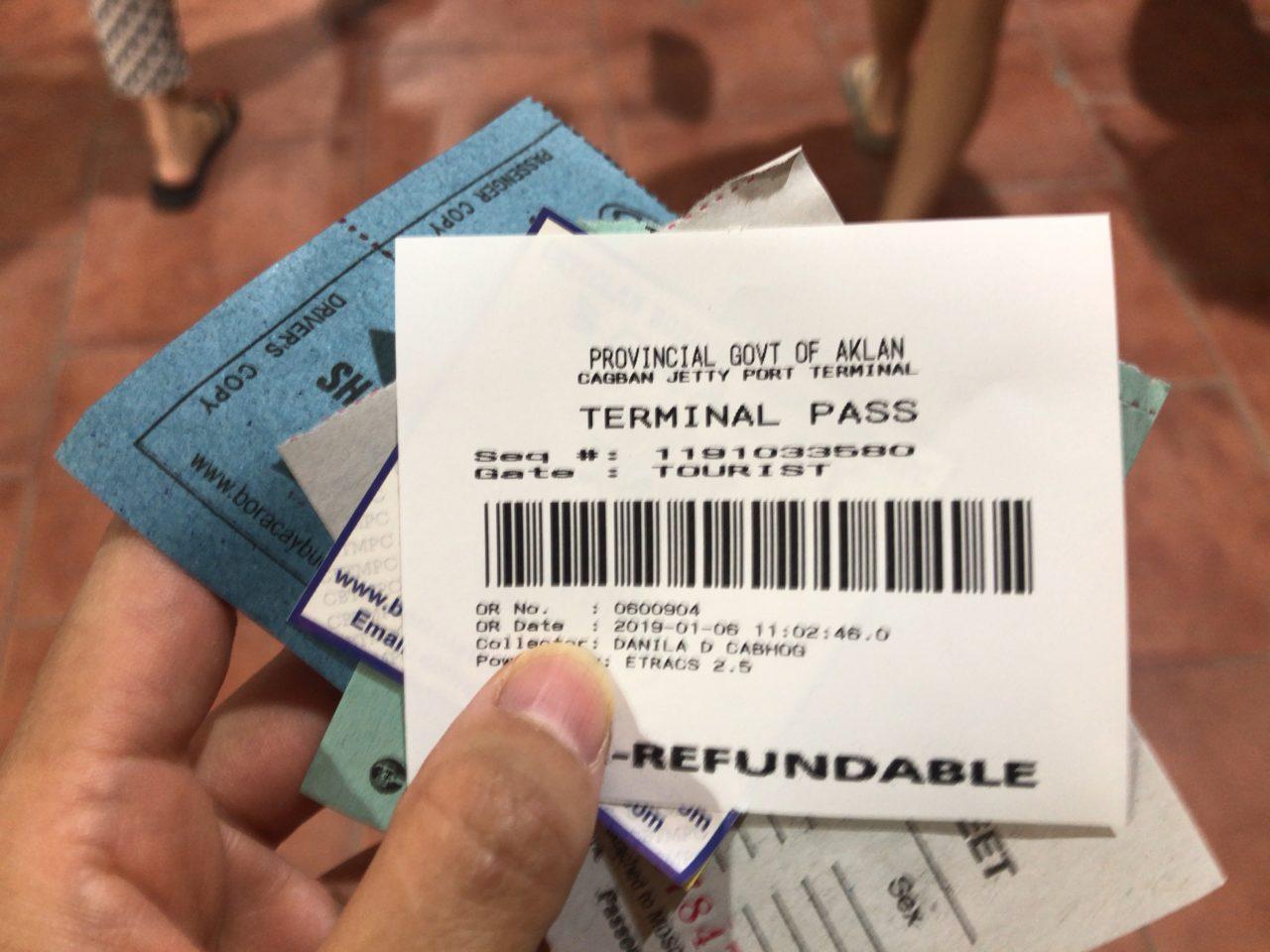 ボラカイ島へのチケット