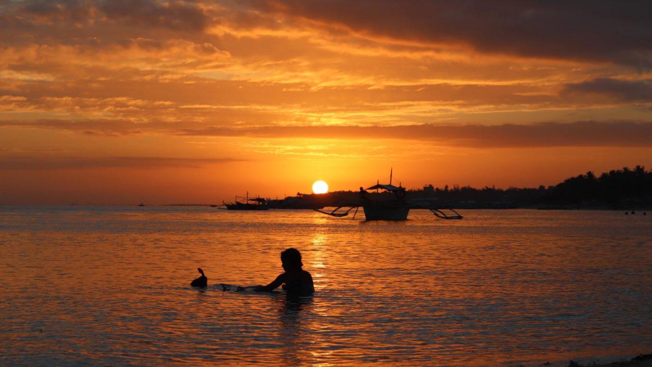 バンタヤン島での夕日
