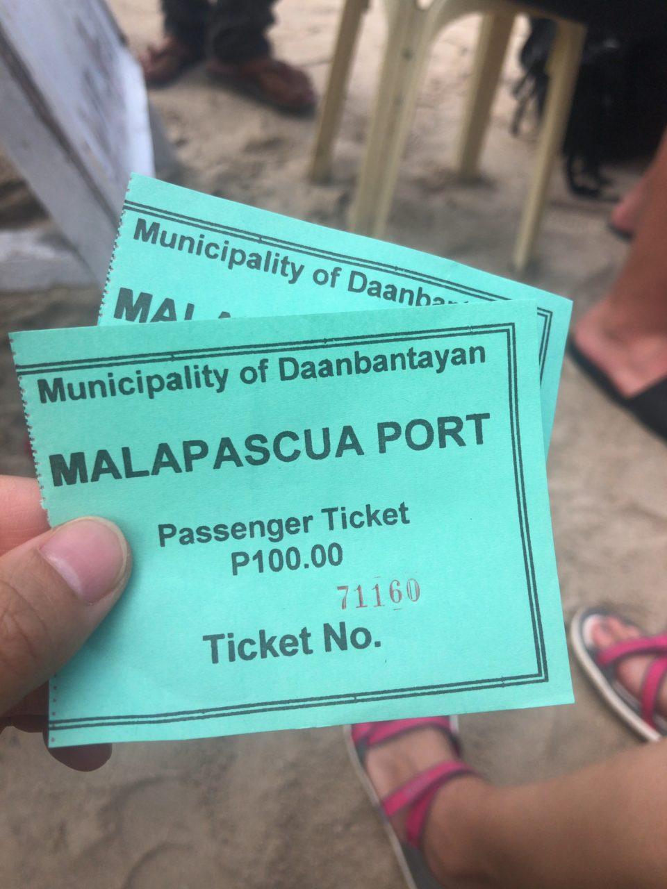 マラパスクアのボートチケット