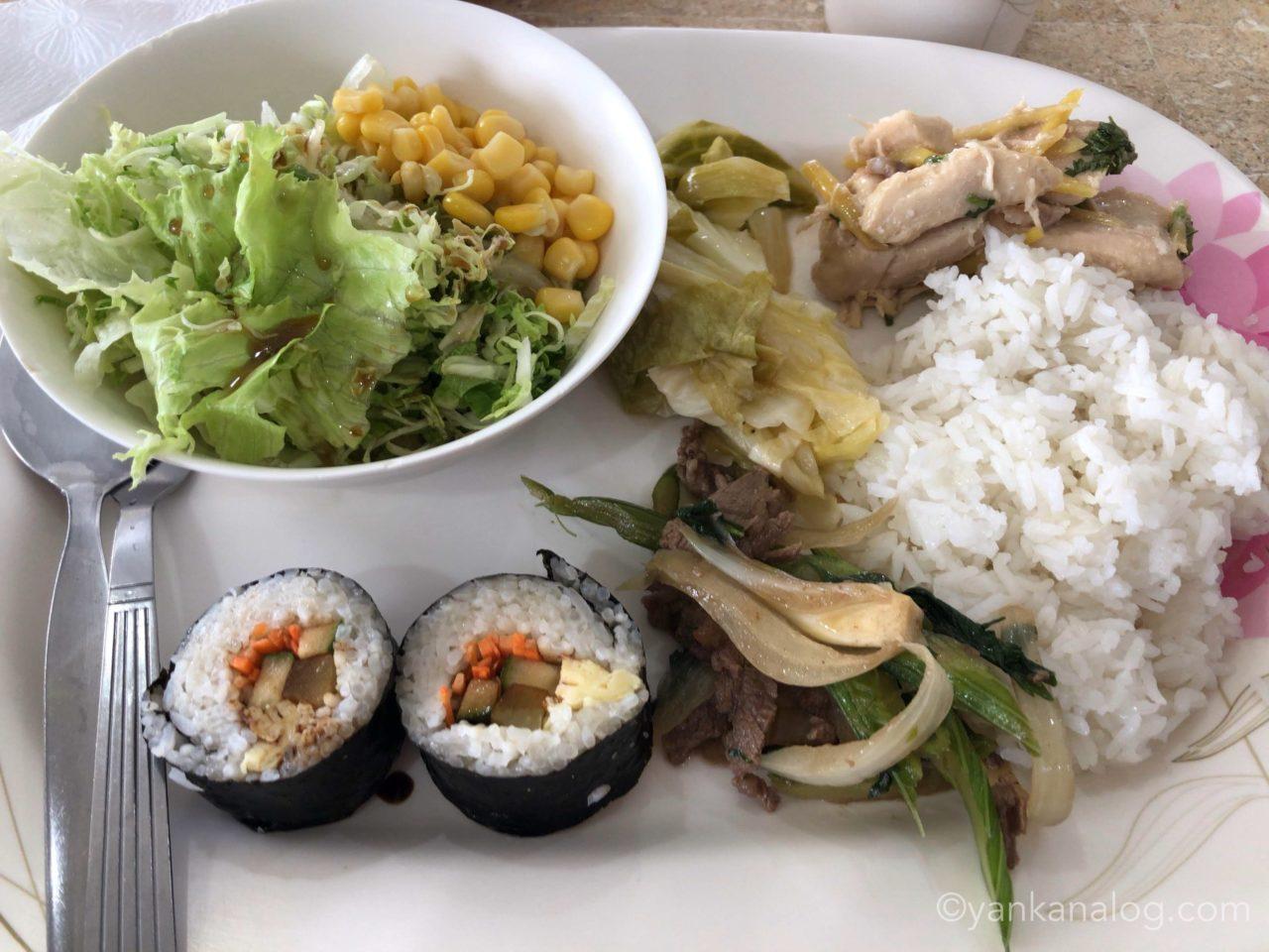 QQEnglishシーフロント校の食事3