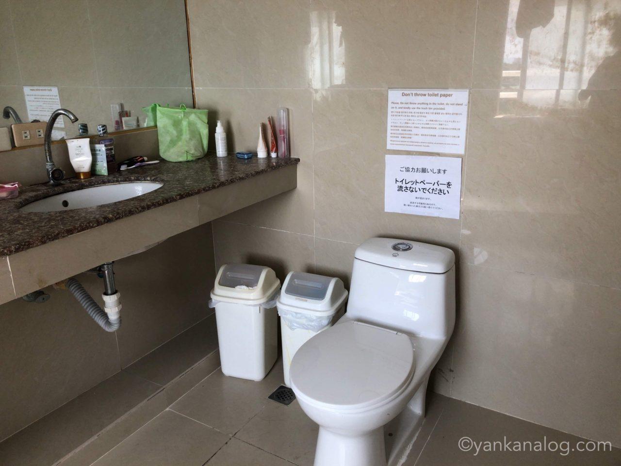 QQEnglishシーフロント校のトイレ