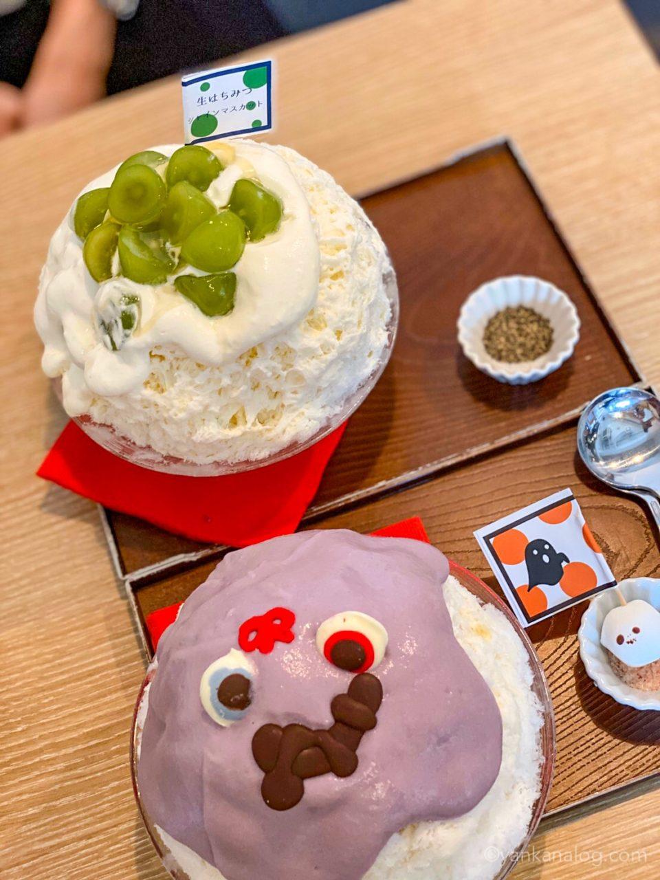 サカノウエカフェのかき氷3