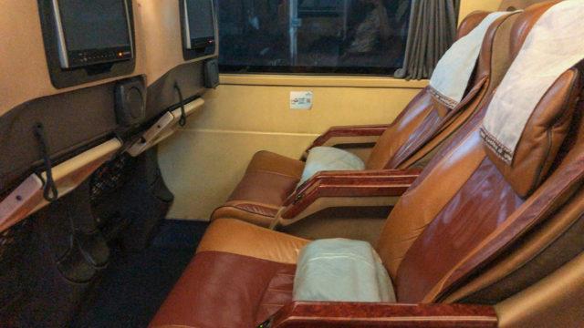 ナコンチャイエアーバスの座席2