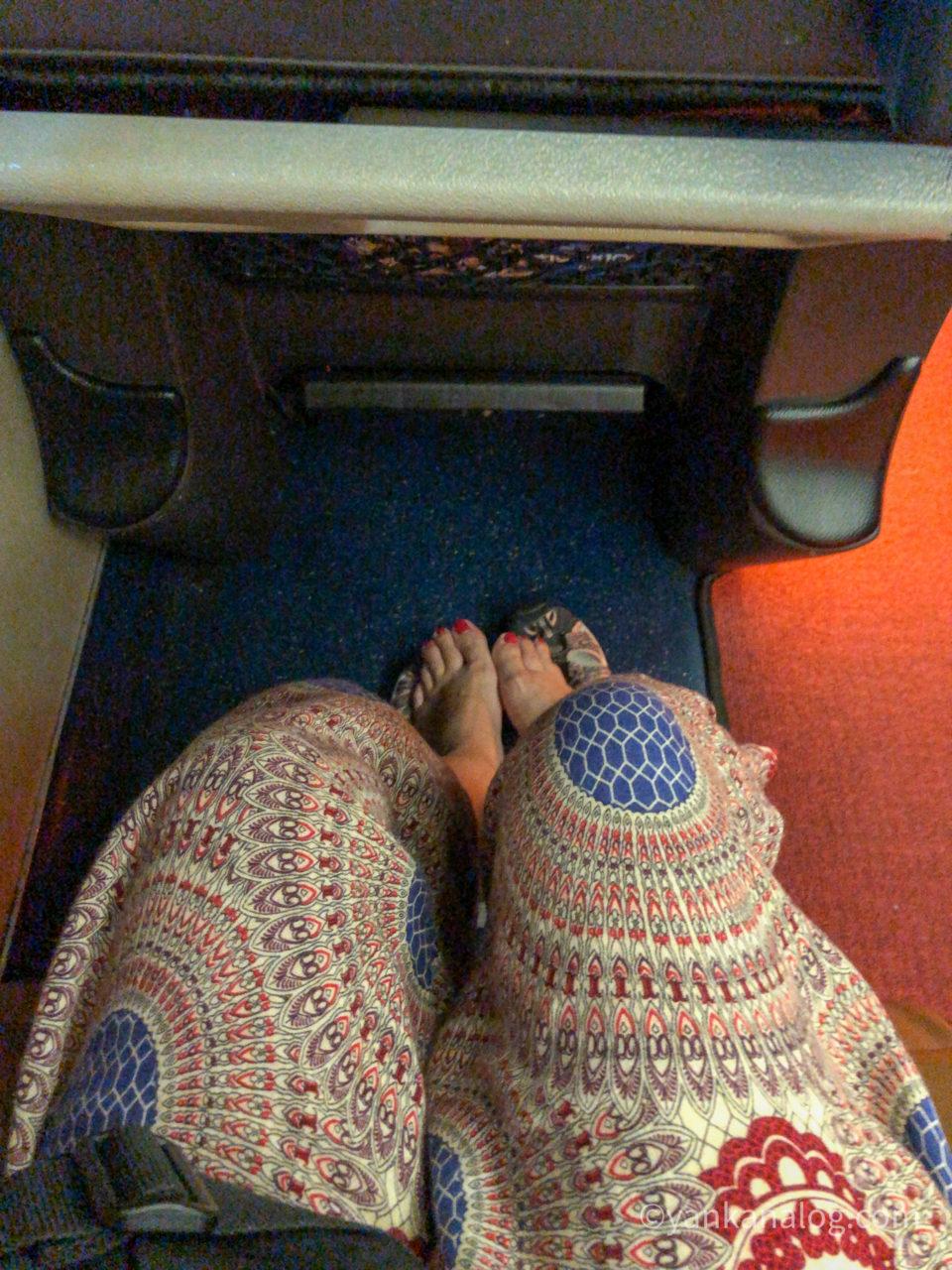 ナコンチャイエアーバスの座席3