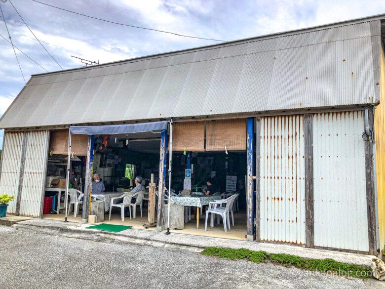 与論島赤崎海岸の売店