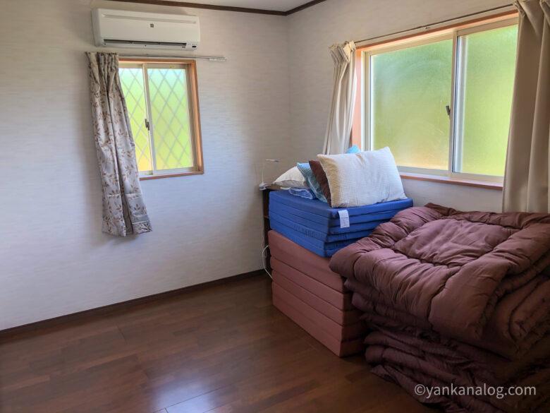 与論島カームの寝室