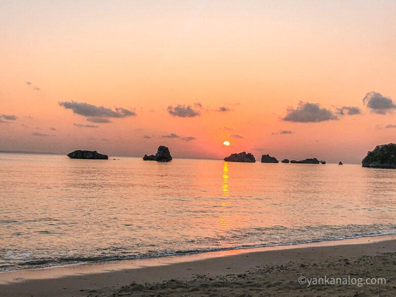 名護の海夕日1