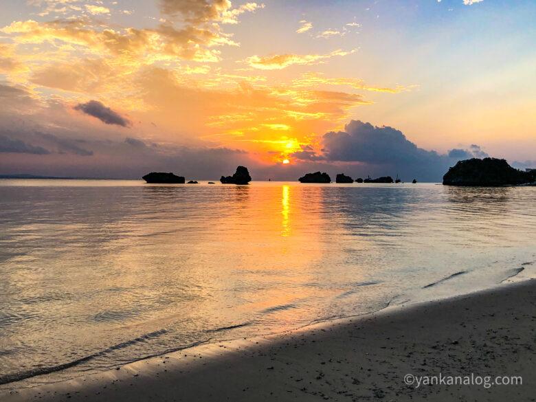 名護の海夕日2